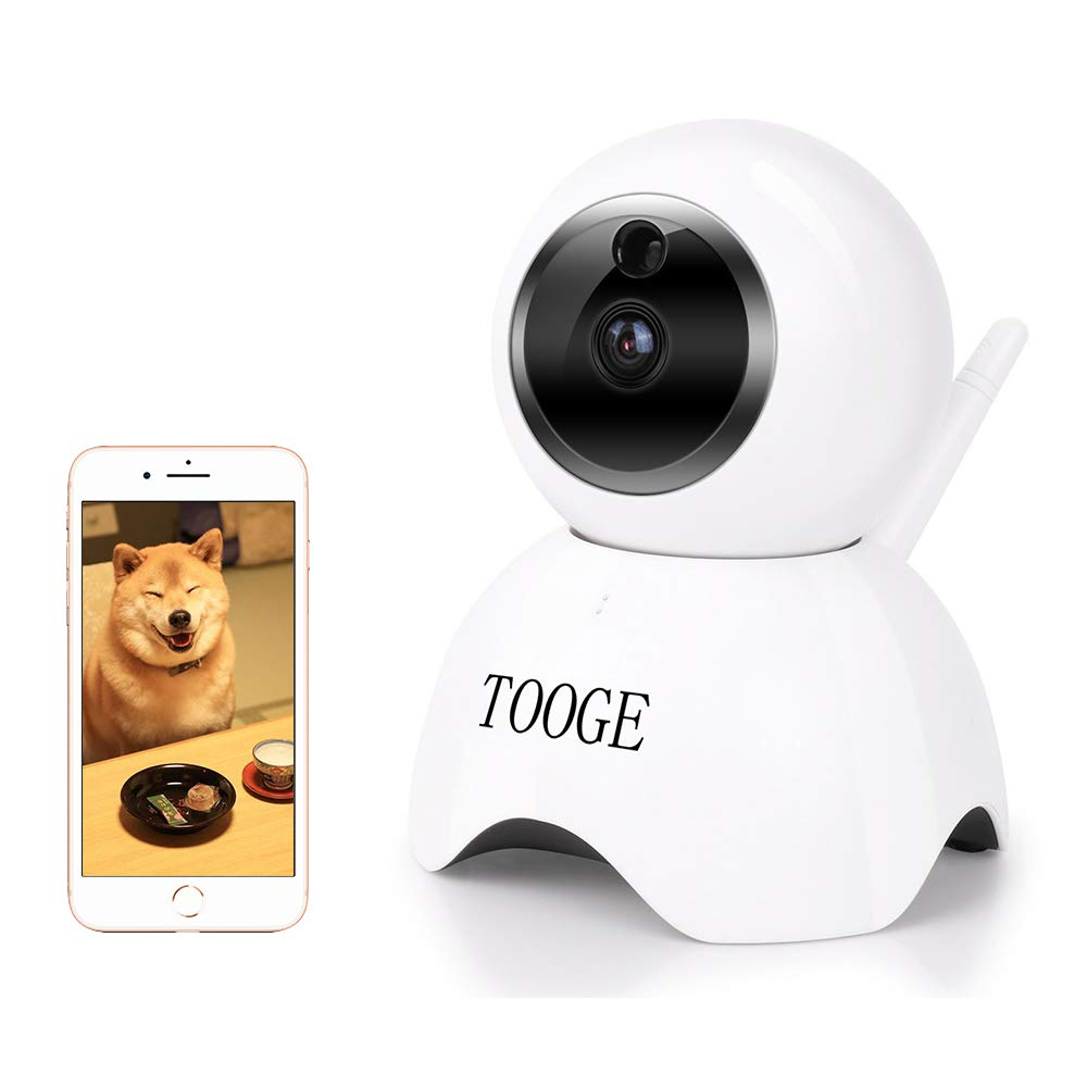 Dog Camera WiFi Pet Camera FHD Indoor Cat Camera TOOGE 2 Way Audio Night Vision Motion Alarm