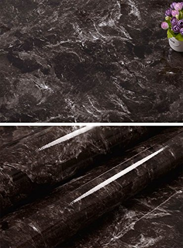 Faux Marble Contact Paper Self Adhesive Film Vinyl Granite Shelf Liner for Covering Counter Top Kitchen Cabinet Backsplash (24''x169'')