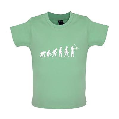 Évolution de l'homme - Tir à l'arc - Marrant T-Shirt bébé - 8 couleurs - 3 à 24 Mois