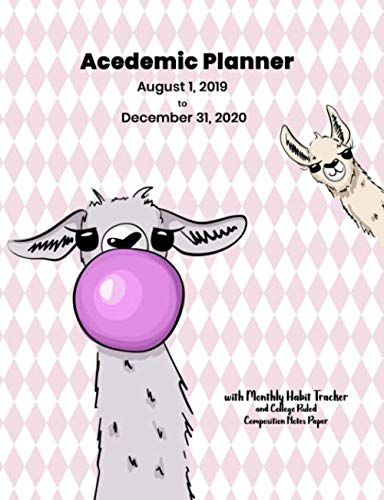 Academic Planner August 2019 to December 2020: Weekly Spread With Monthly Habit Tracker And College Ruled Composition Notes Paper for Students and Teachers (Environmental Science Activities For High School Students)