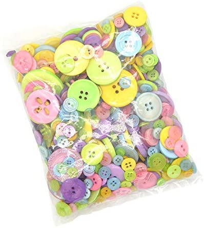 Assorted Novelty Buttons 50 grams Plastic /& Metal Buttons Ideal for crafting
