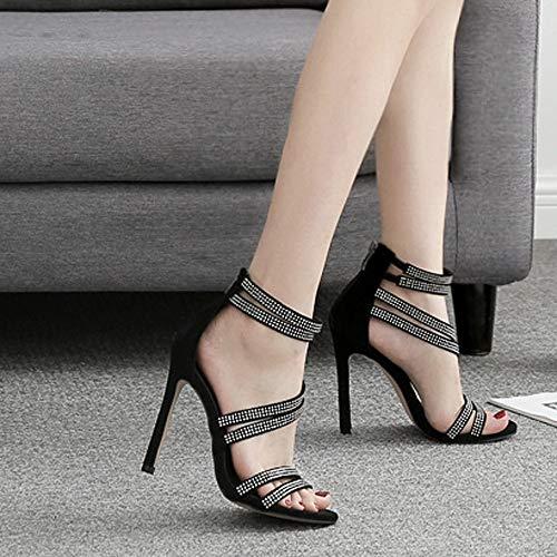 Sottili Da Beikoard Con Tacchi Estremamente Donna F asia Scarpe Sexy Scarpa Nero Alti Size WxvB1Pxnt