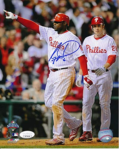 (Ryan Howard Phillies 2008 WS Signed/Autographed 8x10 Photo JSA 144606)
