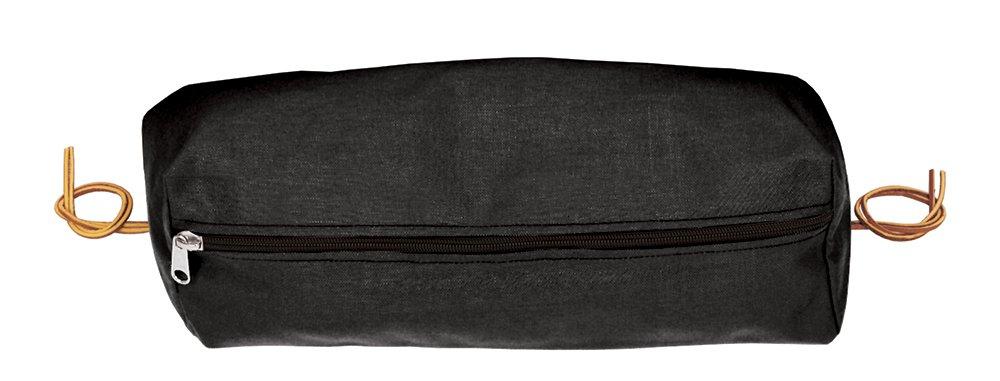 Weaverレザー長方形ナイロンCantleバッグ B004CR1ZGA Large|ブラック ブラック Large