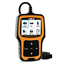 ANCEL AD410 OBD II Vehicle Check Engine Light Scan Tool Automotive Code Reader Auto OBD2 Scanner withI/M Readiness (Black-Orange)