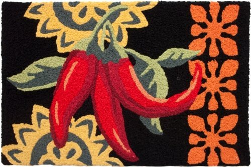 Hot and Spicy Cayenne Peppers Jellybean Accent Area Rug