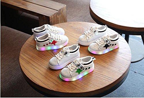 Zapatos LED Zapatos ligeros de los niños, Stillshine - Niños Niños Chicas Lovely LED Zapatos Zapatillas de Halloween Regalo de Navidad (24, Estilo 1) Estilo 1