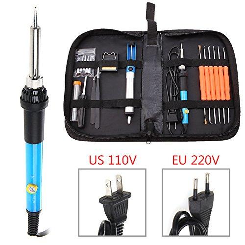 Free Gun Cabinet Plans (110V 60W Adjustable Temperature Welding Solder Soldering Iron Tool Kit)