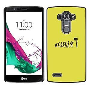 LECELL--Funda protectora / Cubierta / Piel For LG G4 -- Evolución divertida Monkey Man --