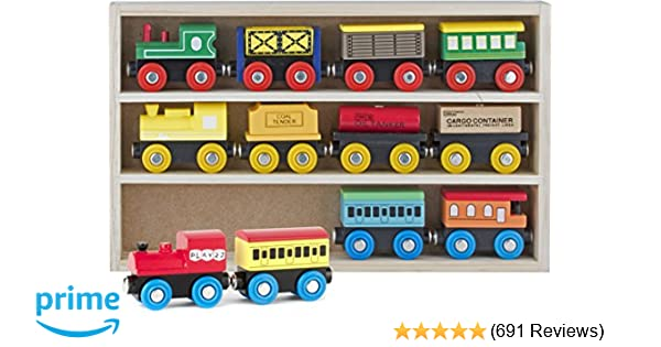 Play22 Wooden Train Set 12 Pcs Train Toys Magnetic Set Includes 3 Engines Toy Train Sets For Kids Toddler Boys And Girls Compatible With Thomas