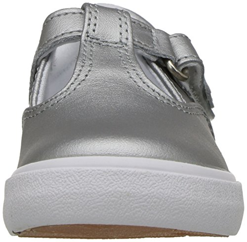 Keds Daphne T-Strap Sneaker (Toddler/Little Kid), Silver/Silver, 5.5 M US Toddler by Keds (Image #4)