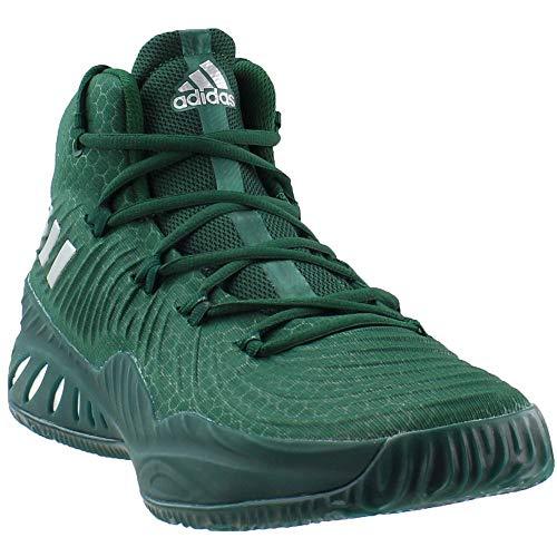 39fe16a4e0c619 adidas Crazy Explosive 2017 Shoe Mens Basketball 7 Dark Green-White-Silver  Metallic