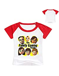 Boys Girls FGTeev The Family Gaming Team T-Shirt Short Sleeve Tshirts