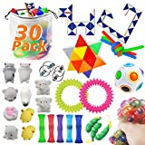 MEEKEEWAY 30 Pack Sensory Toys Set, Bundle Stress Relief Hand Fidget Toys for Kids and Adults, Special Toys Assortment for Birthday Party Favors, Classroom Rewards Prizes, Carnival, Goodie Bag Fillers