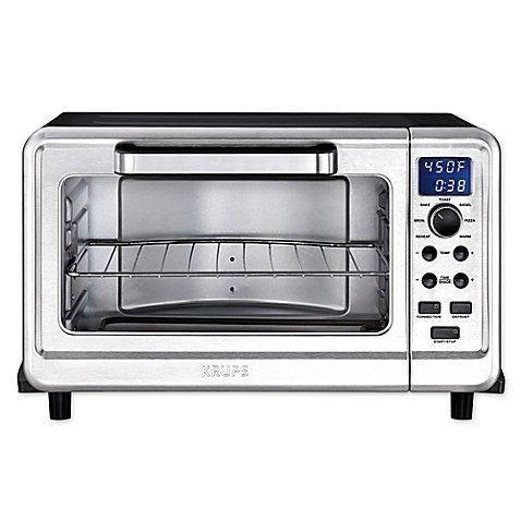 Discover Bargain Krups Metal 6-Slice Digital Convection Toaster Oven in Black/Silver