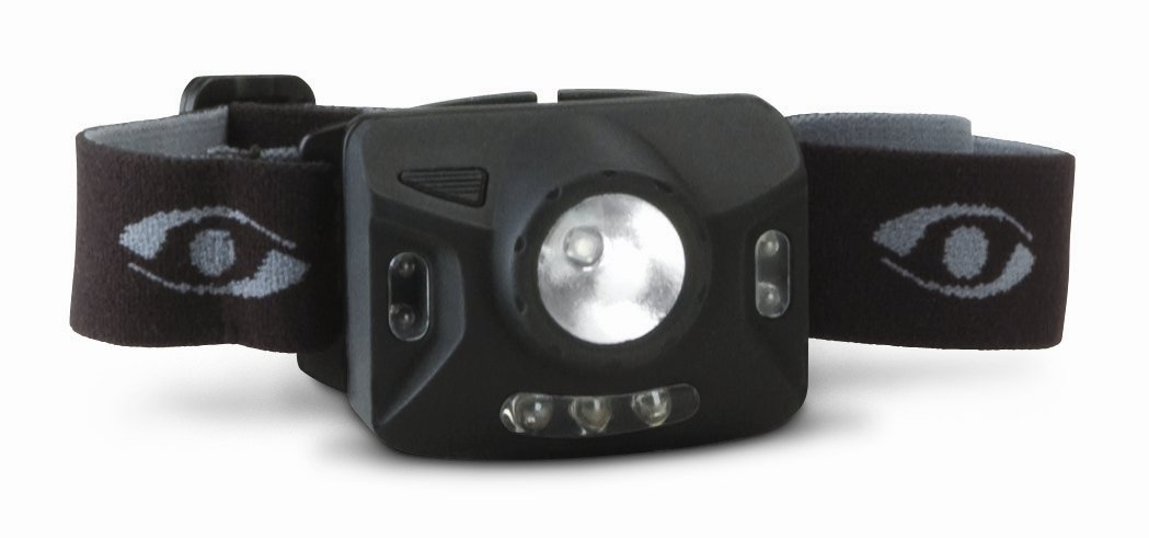Cyclops Ranger Cree 1 Watt 4 Stage Headlamp with 4 Red Led Lights