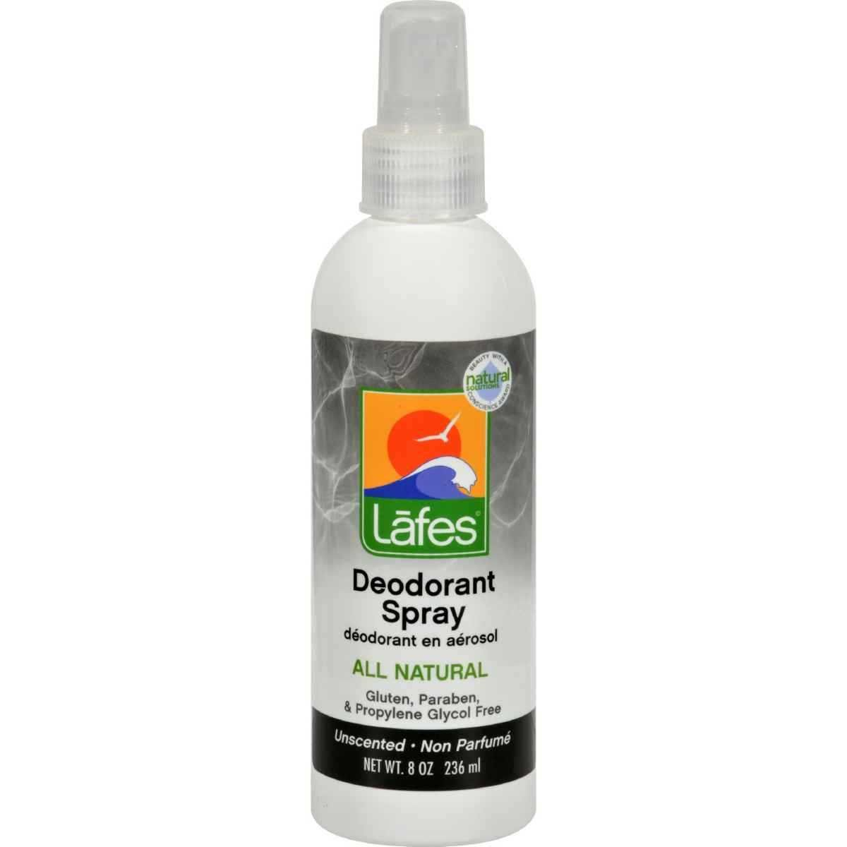 Deodorant Spray with Aloe by Lafes Natural Body Care - 8 oz Lafe' s Natural Bodycare NCS/8