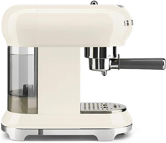 Máquina de café expreso Smeg ECF01RDUK crema: Amazon.es: Hogar