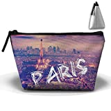 Portable Travel Storage Bags Eiffel Tower In Paris Makeup Bag Clutch Wallets Big Pouch Purse Zipper Holder