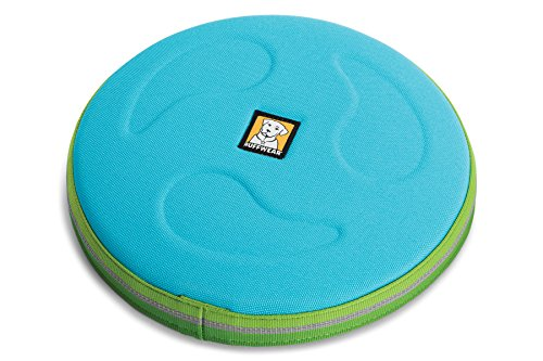 Ruffwear – Hover Craft Flying Disc for Dogs, Blue Atoll (2018), Large