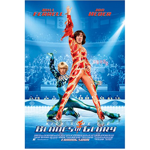 Blades of Glory Jon Heder as Jimmy MacElroy and Will Ferrell as Chazz Michael Michaels in fire and ice costumes full promo 8 x 10 Inch Photo - Jimmy Macelroy Costume