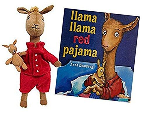 Hug the Belly Llama Llama Red Pajama Book Bundle with Large Stuffed Animal Llama 13.5