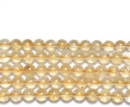 Pcs Gemstones Jewelry Making Crafts Citrine Faceted Round Beads 6mm Golden 60
