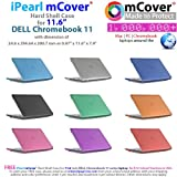 iPearl mCover Hard Shell Case for 11.6 original Dell Chromebook 11 210-ACDU Laptop ( NOT compatible with newer Dell C11 3120 / 3180 / 3189 models ) (Aqua)