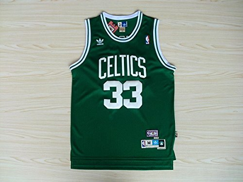Boston 33 Larry Bird de Baloncesto Camisetas Jersey Bordado de Malla, Verde/Blanco +
