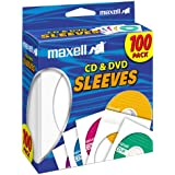 Maxell Blank Media CD/DVD 100-Pack Paper Sleeve 190133