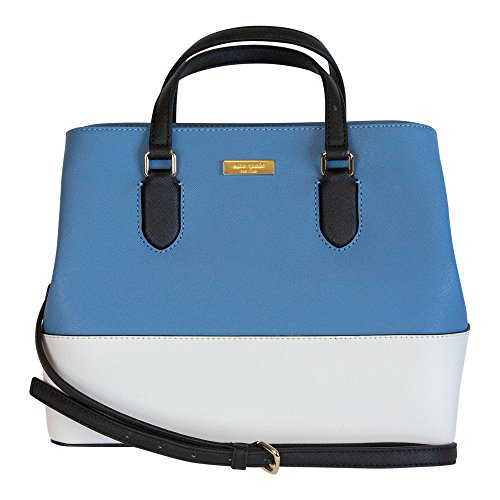 Kate Spade New York Laurel Way Evangelie Saffiano Leather Shoulder Bag Satchel, (Tile/Cement/Black)
