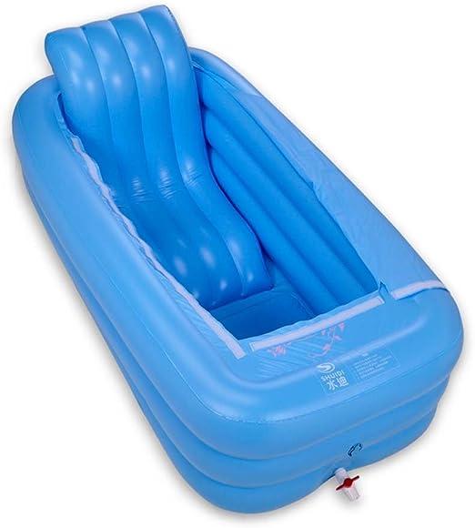 Bañera hinchable portátil para adultos, plegable, cómoda, gruesa ...