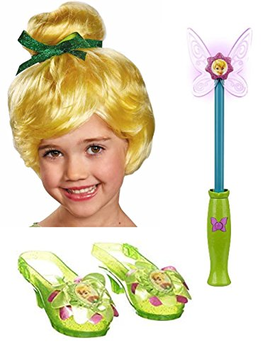 Disney Tinkerbell Wands - Disney Fairies Tinkerbell Wig, Wand, and Shoes