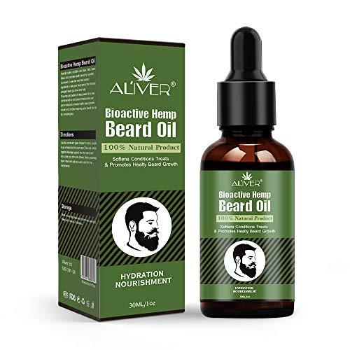 All Natural Bioactive Hemp Beard Oil Conditioner ,Moisturizing Softens Grooming Cleansing Anti-dandruff Stimulate Beard Growth,3.4oz