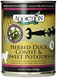Herbed Duck Confit and Sweet Potatoes EntrÃÂe- Dog Food (12/13 Ounce Cans) by Addiction Pet Foods