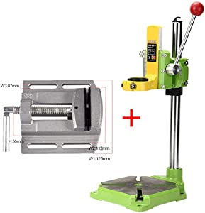 Lukcase Floor Drill Press Stand Table for Drill Workbench Repair Tool Clamp for Drilling Collet,drill Press Table with Vise