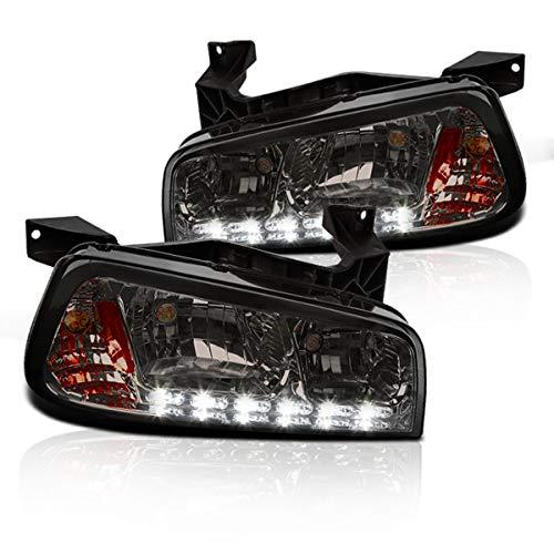 Smoke Lens Chrome Housing Headlights (1 Piece) Made For 06-10 Dodge -