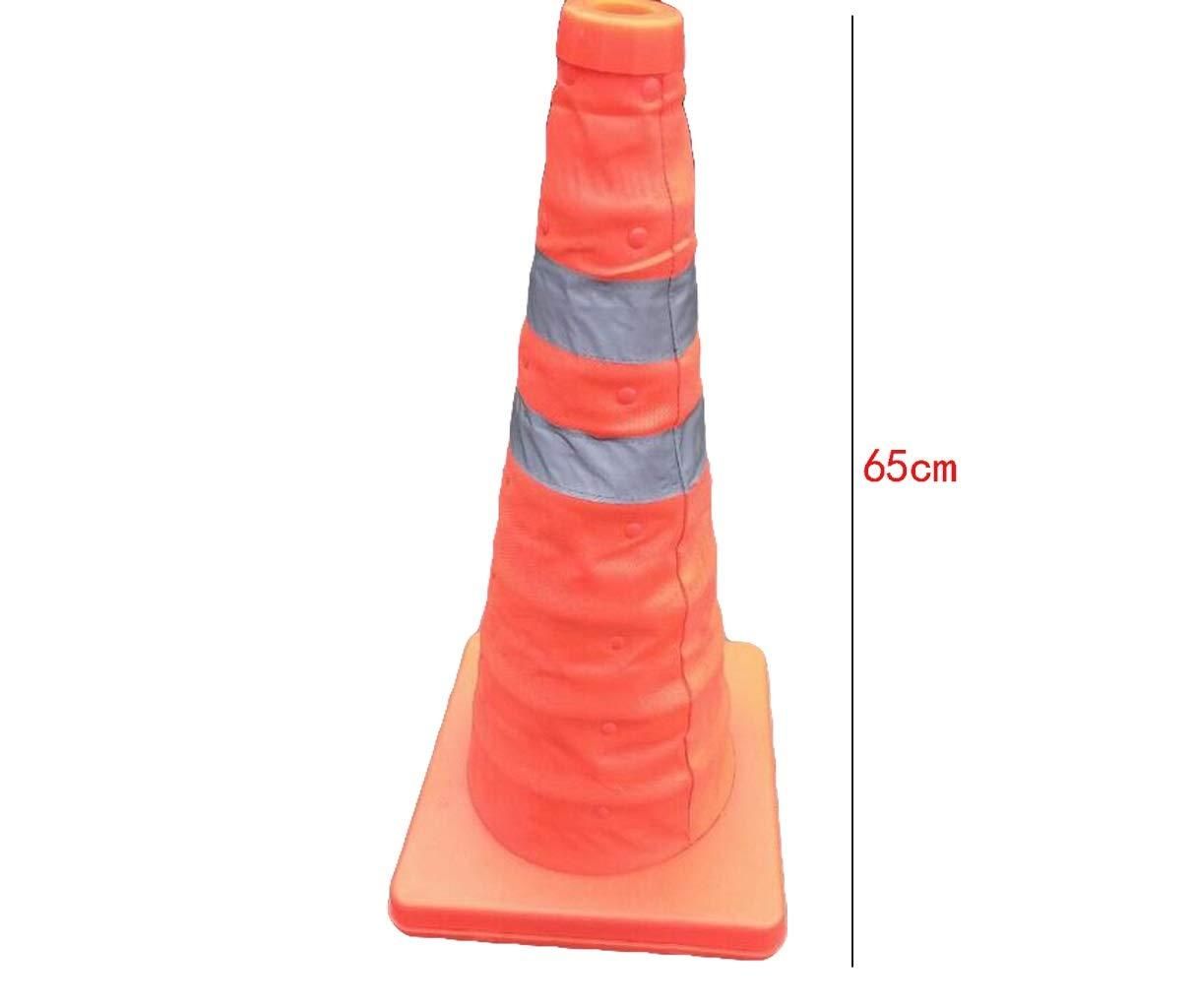 Conos de estacionamiento en carretera Conos de construcci/ón de seguridad Conos de tr/áfico plegables Cono de seguridad retr/áctil 65 cm