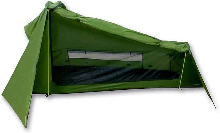 mapuera, Tienda de campaña Trek Santiago - Color Verde, 1,15 kg de Peso, Plegado Compacto, la Tienda de campaña unipersonal y Ligera
