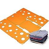BoxLegend Clothes/T Shirt Folder Plastic 4mm Thickness Shirt Folding Board Easy and Fast Laundry Folder Flipfold (Orange)