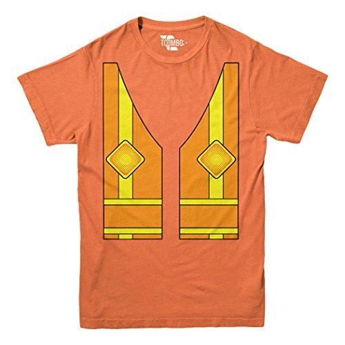 Construction Costume Youth Big Kid T-Shirt (Orange, Large)