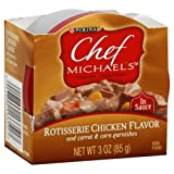 Chef Michael's Canine Creations Dog Food, Rotisserie Chicken Flavor, in Sauce 3oz. (Pack of 6), My Pet Supplies