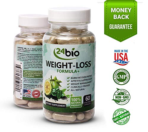 24bio Weight Loss Formula, Best Fat Burning Pills and Natural Appetite Suppressant, Works for Men and Women, Full of Garcinia Cambogia, Green Coffee Bean Extract and L-Carnitine