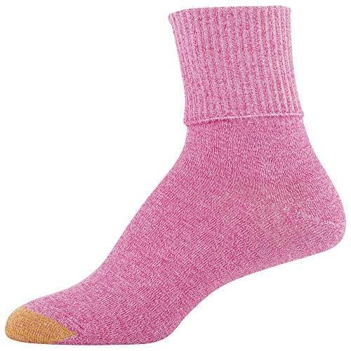thumbnail 8 - Gold Toe Women's Classic Turn Cuff Socks, Multipai - Choose SZ/color