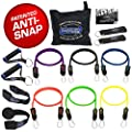 Bodylastics Anti-Snap, Stackable MAX XT Resistance Bands Sets. These Leading Exercise Band Gyms include 6 of Our Best Quality Anti-Snap Exercise Tubes, Handles, Door Anchor, Ankle Straps, Carry Bag by Bodylastics International