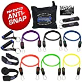 Bodylastics Stackable 12pcs, 14pcs, 19pcs and 31pcs MAX Tension Resistance Bands Sets Include 5, 6, 7 or 12 of Our BEST Quality Anti-Snap Exercise Bands, Heavy Duty Components, a Bag and User Manual.