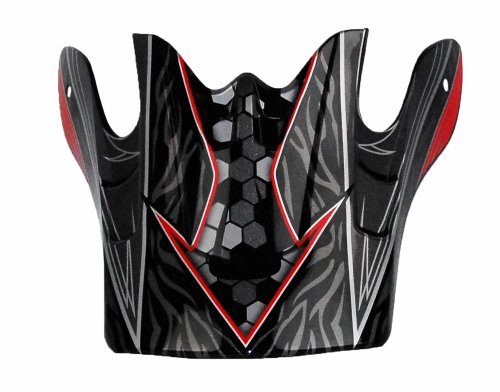 Raptor Junior Off-Road Helmet Visor with Helium Graphic (Red)