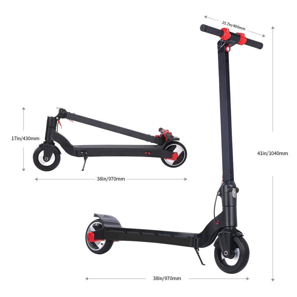 version UE avec garantie Scooter /électrique rabattable,motoris/ée pour adultes et adolescents pliage Trottinette Electrique 6,5 pouces,/éclairage LED-25KPH,conception facile /à rabattre,ultra-l/éger