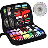 Arts & Crafts : SEWING KIT, XL sewing supplies for DIY, Beginners, Emergency, Kids, Summer Campers, Travel and home,Sewing kit with Scissors, Thimble, Thread, Needles, Tape Measure, Carrying Case and Accessories
