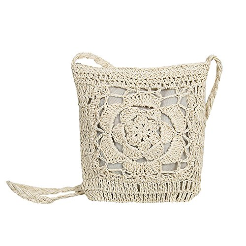 Hollow Weave Bags White White Summer Beach Meaeo Bag Popular Female Shoulder Bag Women Messenger Lady Travel Straw Casual Crossbody vTgERWqOC